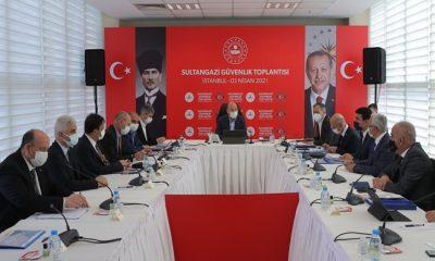 İçişleri Bakanı Süleyman Soylu Sultangazi'de Güvenlik Toplantısına Katıldı