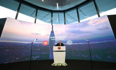Cumhurbaşkanı Erdoğan, Çamlıca Kulesi'nin açılışını gerçekleştirdi