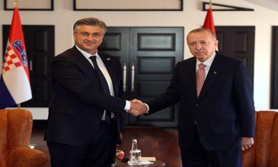 Cumhurbaşkanı Erdoğan, Hırvatistan Başbakanı Plenkovic'i kabul etti