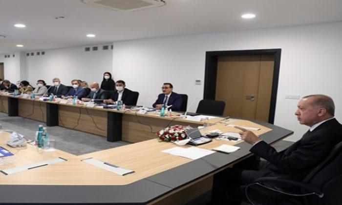 Cumhurbaşkanı Erdoğan, Akkuyu Nükleer Güç Santrali'nde incelemelerde bulundu