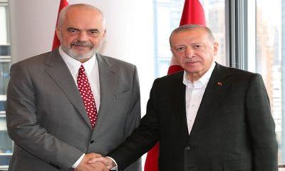 Cumhurbaşkanı Erdoğan, Arnavutluk Başbakanı Rama ile bir araya geldi