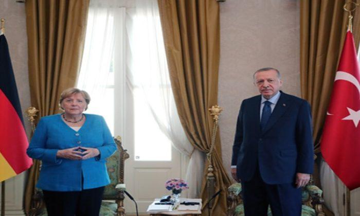 Cumhurbaşkanı Erdoğan, Almanya Şansölyesi Merkel ile görüştü