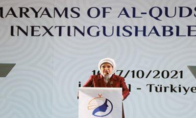 """Emine Erdoğan, """"Kudüs'ün Meryemleri Sönmeyen Kandillerdir"""" konferansına katıldı"""
