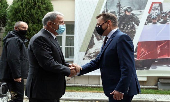 Millî Savunma Bakanı Hulusi Akar, Polonya Savunma Bakanı Marıusz Blaszczak İle Bir Araya Geldi