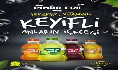 """Türkiye'nin vegan sertifikasına sahip ilk meyveli gazlı içeceği """"Pınar Frii"""""""